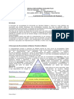 A Pirâmide das Necessidade de acordo com Maslow