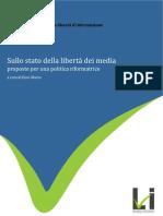 LIBRO BLU Sullo stato della democrazia dei media - proposte per una politica riformatrice