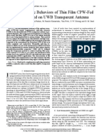 Electromagnetic Behaviors of Thin Film CPW-fed CSRR Loaded on UWB Transparent Antenna (1)