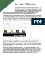 Mis Apps Y Juegos Favoritos Para Móvil inteligente