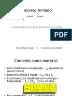 1 - Expressoes Para Pré-dimensionamento
