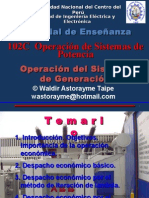 Operación Del Sistema de Generación 2015