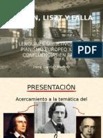 Chopin, Liszt y Falla