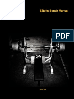 Elitefts Bench Press Manual by Dave Date | Elbow | Physical