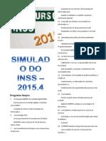 Simulado Do Inss 2015.4