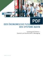 Der Oekonomische Fussabdruck Des Systems Bahn-folder