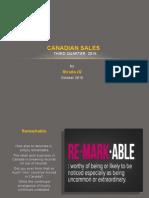 Canadian Sales Three Quarter 2015