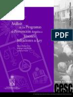 Analisis de Los Programas de Prevencin de Jovenes Infractores de Ley