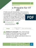 Prepare for IIT JEE
