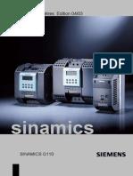 Siemens G110_liste Des Paramètres