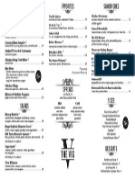 The VIG Food Menu