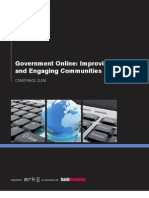 Government Online Improving Service and Engaging Communities Summary