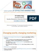Criteria of Effective Marketing
