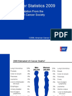 American Cancer Society Statistics 2009 Slides