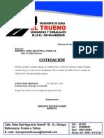 Cotizacion Transporte Lima - Chiclayo