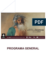 Programa General XIV Festival Cultural ZACATECAS 2010
