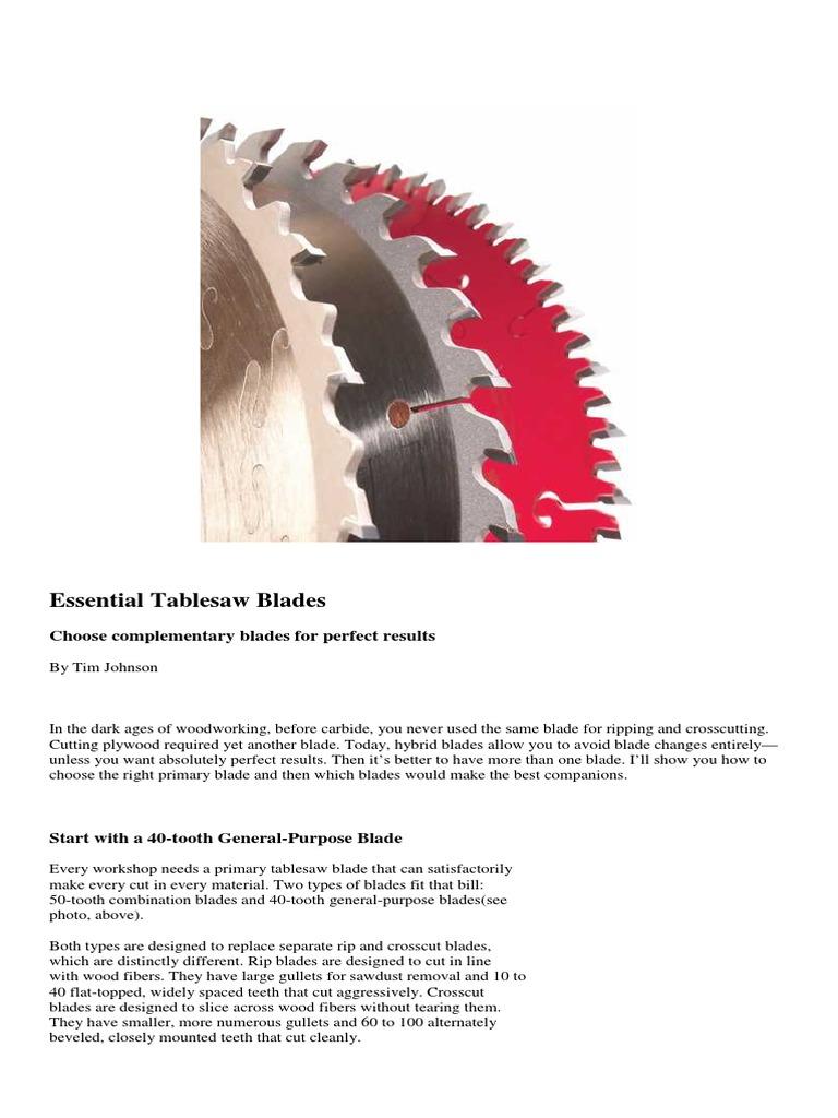 Essential Tablesaw Blades | Blade (765 views)