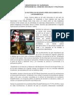Acontecimientos Históricos Recientes Más Reelevantes en Latinoamérica