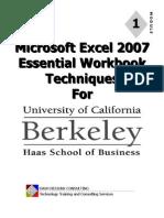 UC Excel 2007 Module 1 - Essentials