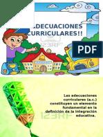 Adecuaciones Curriculares en Educación Especial