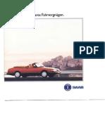 Saab 900 Cabriolet 1993 German [Ocr]