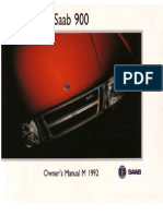 Saab900cv Owners Manual 92 [Ocr]