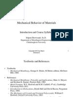 Mechanical Behavior of Materials 01 PDF
