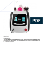 40k Cavitation Ultrasound Multipolar Rf 635nm Lllt Led Light Slimmingmachine