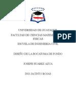 Diseño de La Bocatoma de Fondo