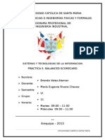 Balance Scorecard Leche Gloria