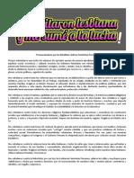 Pronunciamiento Por Las Rebeldías Lésbicas Feministas 2015 Lima_peru