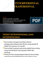 Takrif Interpersonal Dan Intrapersonal