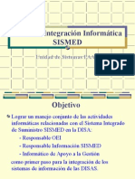Taller de Integración Aplicativo Informático SISMED
