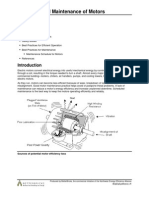 Operation and Maintenance of Motors