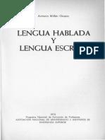 Lengua hablada y lengua escrita