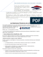 Los Regímenes Tributarios de La SUNAT
