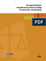 Aproximacion Al Nuevo Codigo Procesal Civil de Honduras