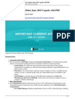 Important Current Affairs June 2015 Capsule With PDF