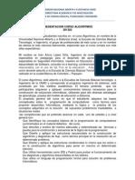 Presentacion Curso Algoritmos 2015 1
