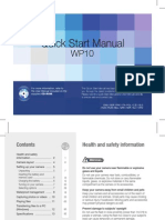 Samsung WP10(AQ100) Quick Start Manual