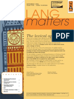 Langmatters Art Lexical Approah