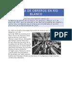 Huelga de Obreros en Río Blanco