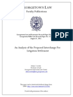 An Analysis of the Proposed Interchange Fee Litigation Settlement