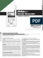 Zoom H4nSP Manuale Operativo (Italian)