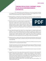Specifikacija Opcija Pozivi i Internet, Pozivi i Poruke i Opcija Za Sve Za Korisnike Bonova