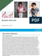 Q2 2015 IR Presentation for the Website