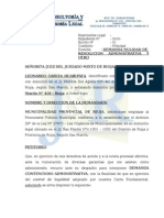 Demanda Nulidad de Acto Administrativo - Destitucion
