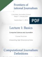 Introduction. Computational journalism week 1