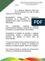 21 03 2011 Entrega de llaves de la Ciudad y el Nombramiento como Huésped Distinguido de Xalapa al Ing. Álvaro Colom Caballeros, Presidente de la República de Guatemala