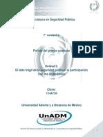 Unidad 2. El Lado Fragil de La Seguridad Publica, La Participacion